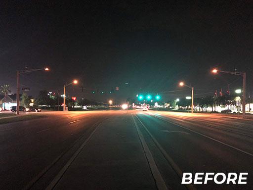 Roadway Lighting - Before | Jan Lighting Solutions
